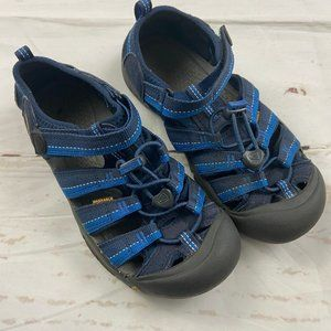 Keen blue and gray velcro strappy shoes KIDS